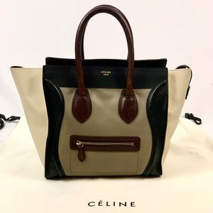 Authentic Celine Mini Luggage Smooth Calfskin Tote